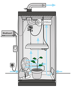 Creating a sufficient air supply in a grow room can be a complicated thing; there doesnu0027u0027t just have to be enough fresh air available it also has to get to ...  sc 1 st  Growmart Grow Shop & How it works: Ventilation in the grow tent. Growmart - Growshop