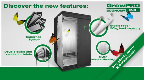 GrowPRO 2.0 grow tent information