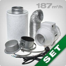 Ventilation kit 160 ECO, grow room ventilation & carbon filter