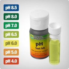 GHE pH testing kit for up to 500 tests, 30ml