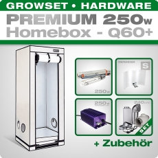 HOMEbox Q60 Silent Grow Tent Kit, 250W, 60x60x160cm