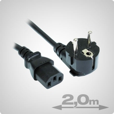 IEC Power Cable female, 2 Meter