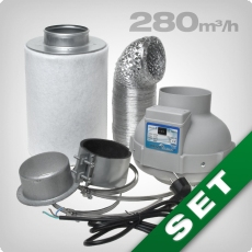 Ventilation kit 160 PRO, grow room ventilation & carbon filter
