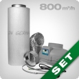 Ventilation kit 800 PRO, grow room ventilation & carbon filter
