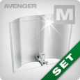 Adjust-A-Wings Avenger Set with heat shield super-spreader, Medium