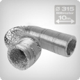 Flexible ventilation ducting 10 metres, diameter: 315mm