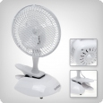 Hurricane clip-on fan with stand, 15W