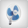 Bestron Remote Wall Fan 40 cm, 3 speed levels