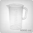 Measuring cup with 10ml increments, 1000ml