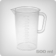 Measuring cup with 10ml increments, 500ml