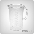 Measuring cup with 5ml increments, 250ml