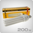 Elektrox CFL 2700K grow lights for flowering, 200W