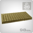 Grodan SBS Cubes diagonal length: 36mm, 98 pieces.
