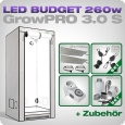 Low Budget Grow Tent Complete Kit LED S, 260W