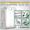 Grow Tent Complete Kit LED GrowPRO XL + 2x Q4WL, 330W