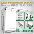 Grow Tent Complete Kit LED GrowPRO XXL + 4x Q5W, 820W