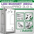 Low Budget Grow Tent Complete Kit LED L, 380W