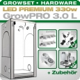 Grow Tent Complete Kit LED GrowPRO L + 2x Q4WL, 330W