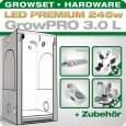 Grow Tent Complete Kit LED GrowPRO L + 1x Q6W, 240W