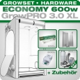 GrowPRO XL grow tent, Grow kit 600W Economy