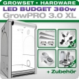 Low Budget Grow Tent Complete Kit LED XL, 380W