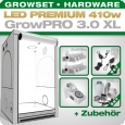 Grow Tent Complete Kit LED GrowPRO XL + 2x Q5W, 410W