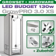 Low Budget Grow Tent Complete Kit LED XS, 130W