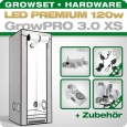 Grow Tent Complete Kit LED GrowPRO XS + 1x Q3W, 120W