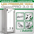 Grow Tent Complete Kit LED GrowPRO S + 1x Q4W, 165W