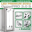Grow Tent Complete Kit LED GrowPRO S + 1x Q5W, 205W