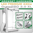Grow Tent Complete Kit LED XL + 2x Q4WL, 330W