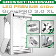 Grow Tent Complete Kit LED XL + 2x Q5W, 410W