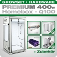 HOMEbox Q100 Silent Grow Tent Kit, 400W, 100x100x200cm