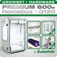 HOMEbox Q120 Silent Grow Tent Kit, 600W, 120x120x200cm