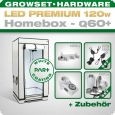 LED Grow Kit Homebox Ambient Q60 + 1x Q3WL, 120W