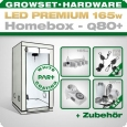 LED Grow Kit Homebox Ambient Q80 + 1x Q4W, 165W