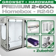 HOMEbox R240 Silent Grow Tent Kit, 2x 600W, 240x120x200cm