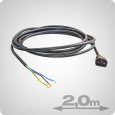 IEC Power Cable, 2 Meter (open)