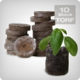 Jiffy peat pellets, 10 pieces.