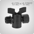 Cylinder valve female thread/male thread 1/2 x 1/2