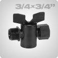 Cylinder valve female thread/male thread 3/4