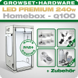 LED Grow Kit Homebox Ambient Q100 + 2x Q3WL, 240W