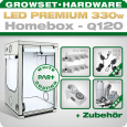 LED Grow Kit Homebox Ambient Q120 + 2x Q4WL, 330W
