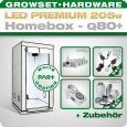 LED Grow Kit Homebox Ambient Q80 + 1x Q5W, 205W