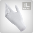 Latex gloves, non-sterile, size L, 100 pieces.