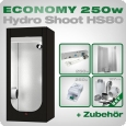 Low Budget Grow Tent Complete Kit S, 250W, 80x80x180cm