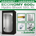 Low Budget Grow Tent Complete Kit XL, 600W, 120x120x200cm