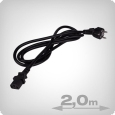 IEC Power Cable, female, 1.5 mm, 2 m