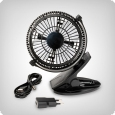 Romberg clip-on fan, 3,5 W (+ USB connection)