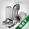 Ventilation kit 240 silent, S&P fan & carbon filter